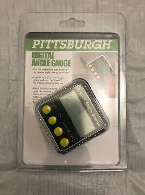 Pittsburgh digital angle gauge - Magnetized- LCD display - Stainless steel Build