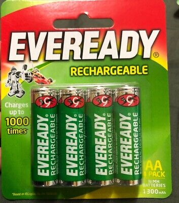 EVEREADY AA Rechargeable Batteries 1.2V .. Free Shipping AU Wide