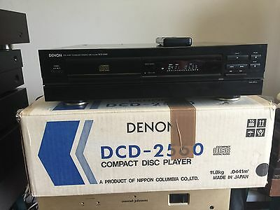 legendary Denon DCD-2560 CD player with original box and remote control