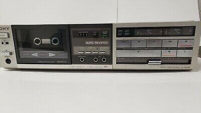 SONY TC-FX500R Cassette Deck Vintage TURNS ON BUTTONS WORK DOLBY Auto Reverse