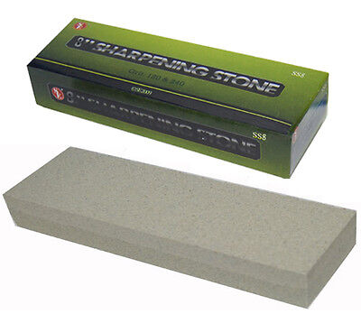 New Aluminum Oxide Sharpening Stone - Dual Grit Knife Sharpener Whetstone 8 inch
