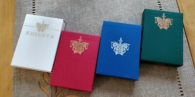 FULL SET Of Ellusionist Knights playing cards (white/red/green/blue) In Case