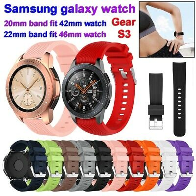 de silicona Pulsera Correa For Samsung Galaxy Gear S3 Frontier 42mm 46mm Watch