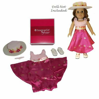 NEW American Girl Rebecca's Movie Outfit Dress Hat Shoes Choker NRFB
