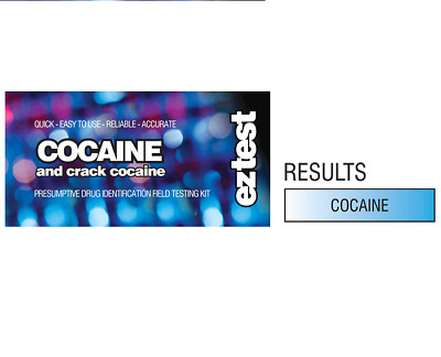 Cocaine & Crack Cocaine Drug Test for Presence of Coke  Ez Test 5 tests