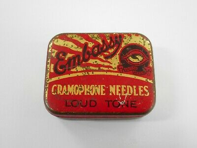 Vintage Embassy Gramophone Needle Tin / Loud Tone With Contents