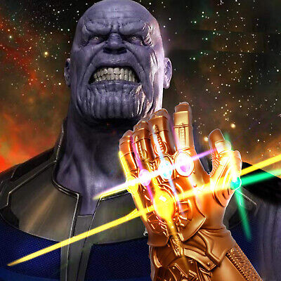 Avenge 3 Infinity War Infinity Gauntlet LED Cosplay Thanos Gloves With LED dr5Q