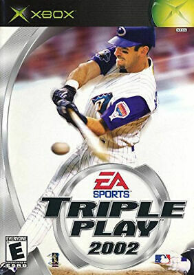 XBOX Triple Play 2002 Baseball Original Case & Instructions Used