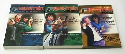 HUNTER 80's NBC COP TV SHOW COMPLETE Seasons 1 2 3 DVD Sets TESTED FAST SHIP