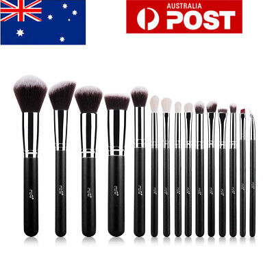 AU 15Pcs Pro Face Powder Makeup Brush Set Eyeshader Blending Highlight Brushes