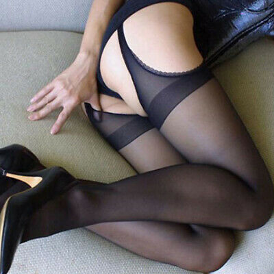 Women Sexy Plus Size Pantyhose Socks Tights Lace Fishnet Long Stockings Hold Up