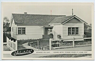 1942 Rp Advertising Postcard For Asbestos New Homes Grenfell St Adelaide Sa Z64