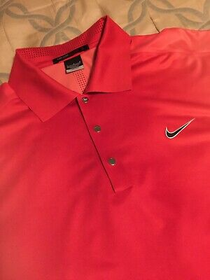7ca2659eb507b4 RARE Nike Golf Tiger Woods Polo Arnold Palmer Bay Hill Shirt Red Pink Large