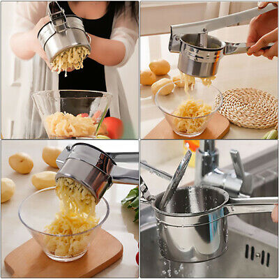 3 in1 Stainless Steel Potato Masher Ricer Puree Fruit Juicer Vegetable Maker Set
