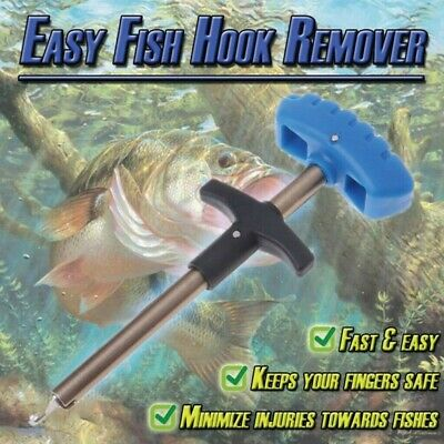 Easy Fish Hook Remover Puller Detacher Fishing Tool T-Handle Extractor TacklesD