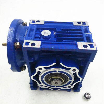 56B14 Worm Gearbox NMR030 Speed Reducer Reduction Ratio 10:1 9mm Motor Shaft