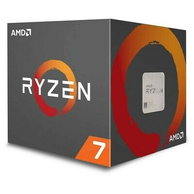 AMD Ryzen 7 2700X CPU 8 Cores AM4 4.35GHz 20MB 105W With Wraith Prism CPU Cooler