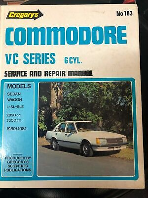 Gregory's Holden Commodore VC Series 6 Cylinder Service Manual