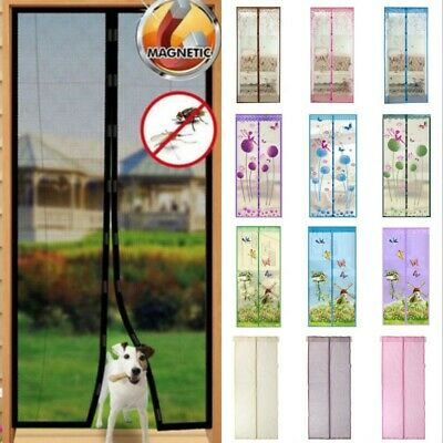 Mesh Magnetic Mosquito Door Curtain Anti Fly Bug Snap Screen Hands Free Net