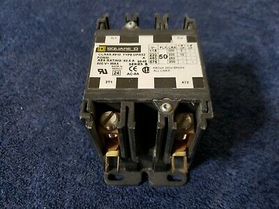 Square D 8910 DPA52 Contactor Series B 600 V MAX Form RES Rating 62.5 A