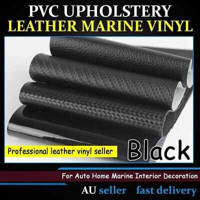 Synthetic Leather Fabric Upholstery Vinyl Carbon Fiber/Gloss/Glitter Woven Black