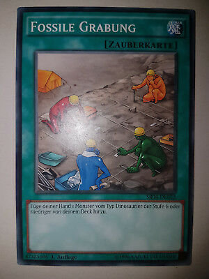 Yu Gi Oh  Karten Selten Fossile Grabung Fossil Dig TOP