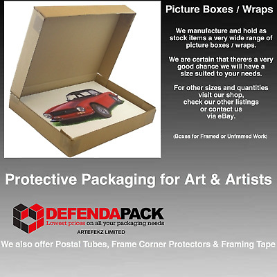 "10 LARGE PAINTING SHIPPING POSTAL WRAP BOXES 43x3x23"" POSTAL PICTURE ART POSTER"