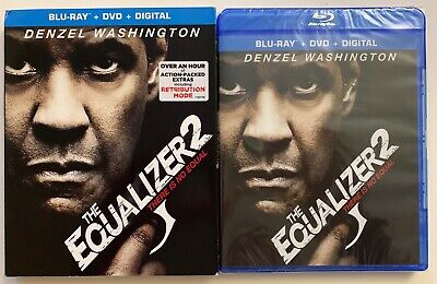 New Equalizer 2 Blu Ray Dvd Digital 2 Disc Set + Slipcover Sleeve Free Shipping