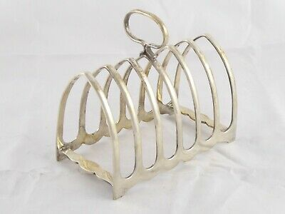 SMART VINTAGE SOLID STERLING SILVER TOAST RACK ART DECO  1926 ATKIN BROS 147 g