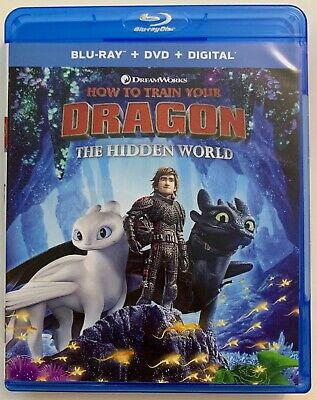 How To Train Your Dragon 3 Hidden Wolrd Blu Ray 1 Disc Only Free World Shipping
