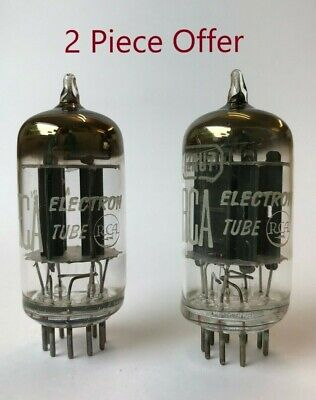 ECC82 12AU7 RCA NOS 2 pieces with black anode and square getter