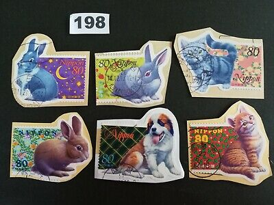 Japan Commemorative Animals Lot of Used Japanese Stamps On Paper Lot.198