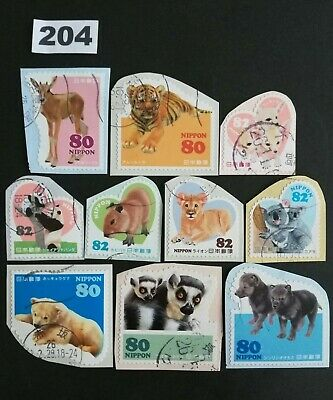Japan Commemorative Animals Lot of Used Japanese Stamps On Paper Lot.204