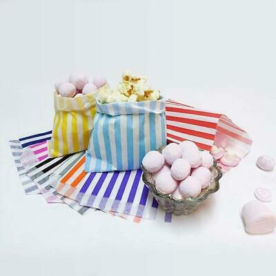 Medium Sweets,, Candy Colour Striped Paper Bags, Party, Favour, Cake Bags ⭐⭐⭐⭐⭐