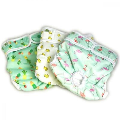 Pet Magasin Reusable Dog Diapers (3-Pack) - Durable Wrap Nappies with Luxury...