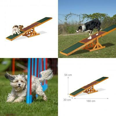 Relaxdays Colourful Wooden Pet Seesaw for Big and Small Dogs, Equipment...