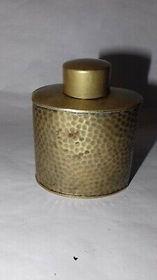 Antique J.S & S Solid Brass 4 Tin/Hip Flask
