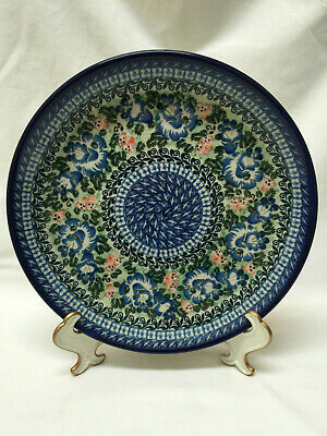 "Beautiful Unikat Signed Polish Pottery 10.5"" Dinner or Decorative Plate"