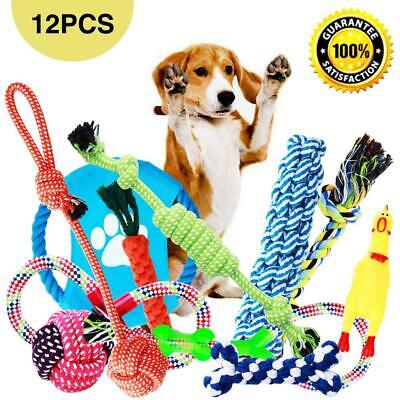 Parner Dog Rope Toys, 12pcs Puppy Chew Set Toy Durable Teeth Cleaning for...