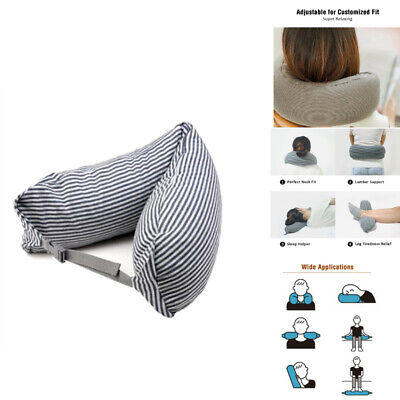 Travel Pillow Microparticle Cushion Airplane Headrest Support Pillow U Shaped