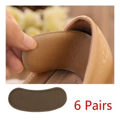 Extra Sticky Fabric Shoe Heel Inserts Insoles Pads Cushion Grips Strong Comfy