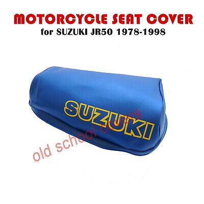 Suzuki Jr50 Jr 50 1978-1998  Blue Seat Cover With Yellow Logo To Sides