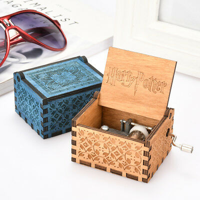 Wooden Music Box Harry Potter Game of Thrones Engraved Fun Toys For Fans Gift US