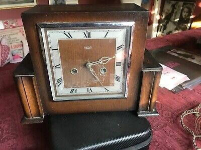 Smiths Enfield Mantle Clock With Key Working Order