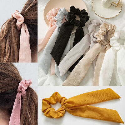 Boho Print Ponytail Scarf Bow Elastic Hair Rope Ties Scrunchie Ribbon Hair Bands