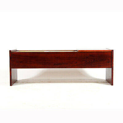 Retro Vintage Danish Rosewood Side Coffee Planter Table 1960s 70s Plant Pot Herb