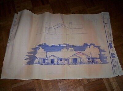 VINTAGE Home Plans Blueprints 1648 sf Living Area, 2 pages on 4