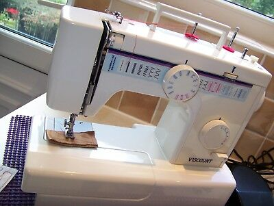 Immaculate Viscount Steel/Brass Gears Multistitch Heavy Duty Sewing Machine,Acc.