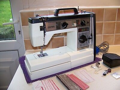 Lovely Jones Brother Vx-760 F/Arm Heavy Duty Sewing Machine,Case/Acc,Serviced