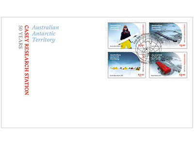 AUSTRALIAN ANTARCTIC TERRITORY 2019 Casey Research Station: 50 Years fdc set